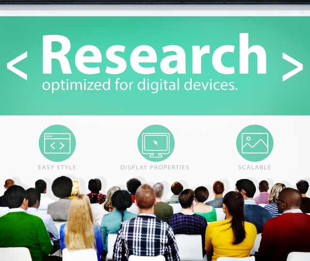 Research Review Analysis Study Search Seminar Conference Concept